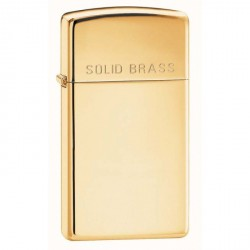 ZIPPO Slim with Solid Brass Engraved - HP Brass (laiton chromé)