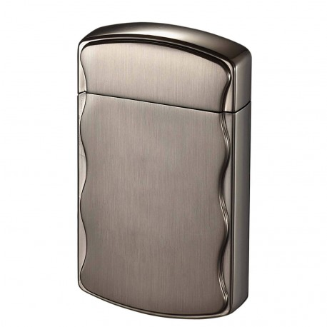 Briquet Fireball Brushed Gunmetal Coil Flame Visol