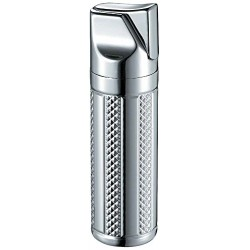 Briquet Tornado Polished Chrome Single Jet Flame Cigar Visol