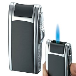 Briquet Cole Black Matte Single Jet Flame Cigar Visol