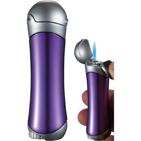 Briquet Violet Satin Purple & Chrome Visol