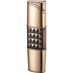 Briquet Miranda Satin Copper Torch Flame Cigar Visol