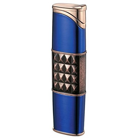 Briquet Miranda Satin Blue Torch Flame Cigar Visol