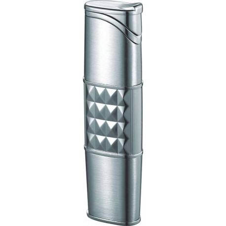 Briquet Miranda Satin Chrome Torch Flame Cigar Visol