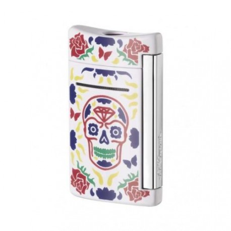 Briquet MiniJet Day Of The Dead Fleuri ST Dupont