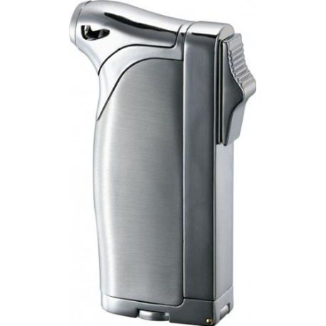 Briquet Dual All-in-One Chrometone Silver Poli Visol