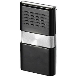 Briquet Noipas Black and Chrome Torch Flame Visol