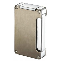 Briquet Zidane Satin Nickel and Chrome Cigare Visol
