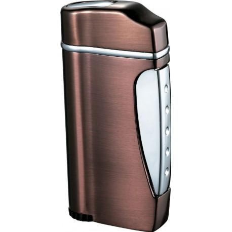 Briquet Nolet Satin Bronze Torch Flame Visol