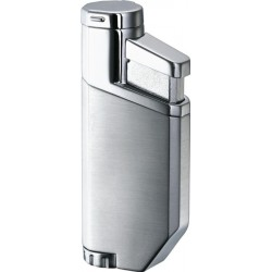 Briquet PortofiNo Satin Chrome Torch Flame Visol