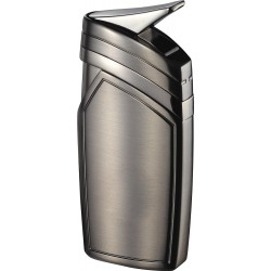Briquet Spark Single Torch Flame Satin Gunmetal Visol