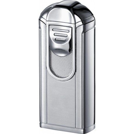 Briquet Alec Single Jet Flame Matte Chrome Visol