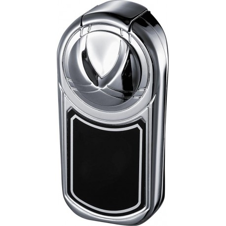 Briquet Dobrev ll Double Jet Flame Polished Chrome Cigar Visol