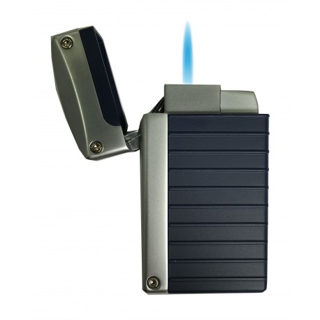 Briquet Norfolk Blue Matte Torch Flame Visol