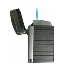 Briquet Norfolk Charcoal Grey Matte Torch Flame Visol
