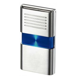 Briquet Noipas Blue and Chrome Torch Flame Visol