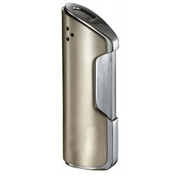 Briquet Pulsante Satin Nickel Torch Flame Visol