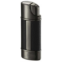 Briquet Piccolo Leather & Gunmetal Torch Flame Visol