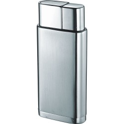 Briquet Marco Satin Chrome Torch Flame Visol