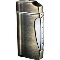 Briquet Nolet Satin NIckel Torch Flame Visol