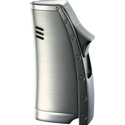 Briquet Bolt Satin Gunmetal Single Jet Flame Visol