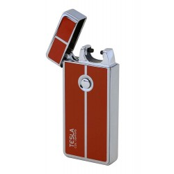 Briquet USB Rechargeable Windproof Arc Lighter Tesla Coil Lighters ocre