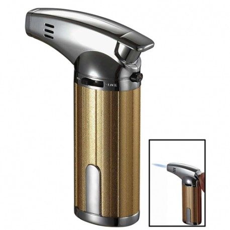 Briquet torche de table Fiamma Gold Chrome Jet unique cigare Visol