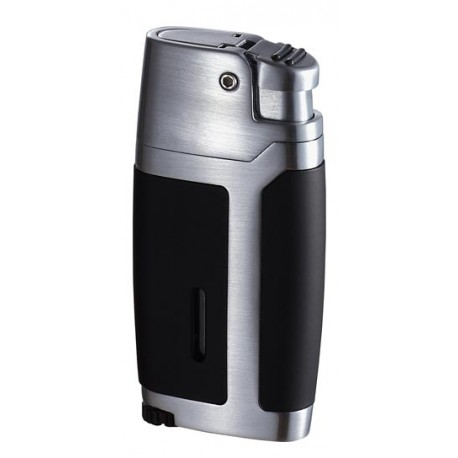 Briquet Bron noir mat chrome jet unique Visol