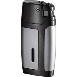 Briquet Bron gunmetal satin chrome jet unique Visol