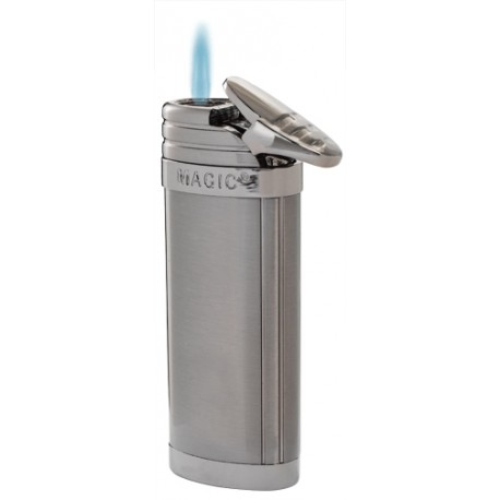 Briquet Magic Panther satin gunmetal cigare jet unique Visol