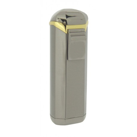 Briquet Magic Uno satin gunmetal gold cigare jet unique Visol