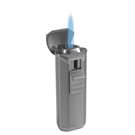 Briquet Magic Uno satin gunmetal cigare jet unique Visol
