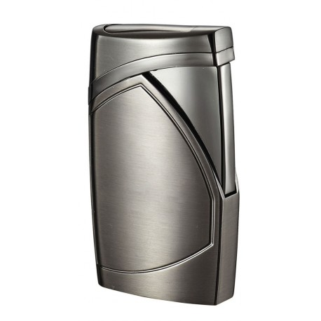 Briquet torche Shark gris métal flamme unique Cigar Visol