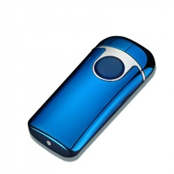 Briquet LIGHTER USB Rechargeable Double Arc Ouverture Papillon Bleu
