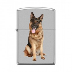 ZIPPO German Shepherd Dog - Satin Chrome (chromé satiné)